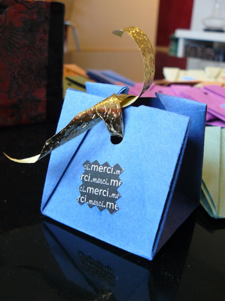 Ballotins cadeaux invités origami
