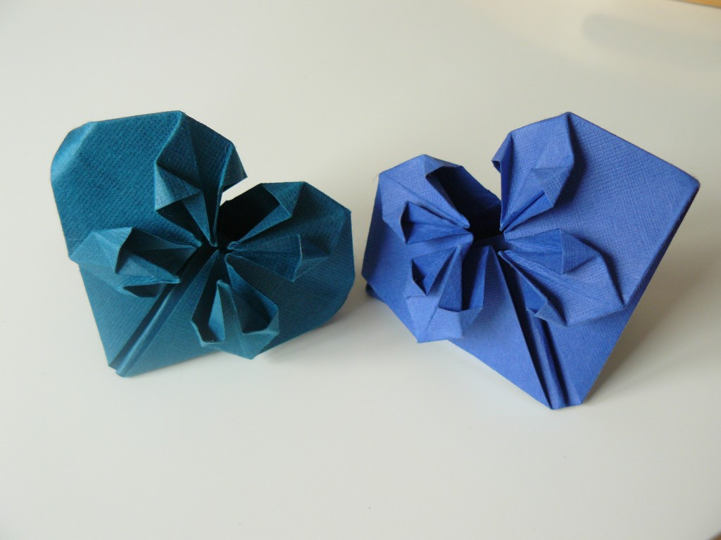 Save the date coeur origami