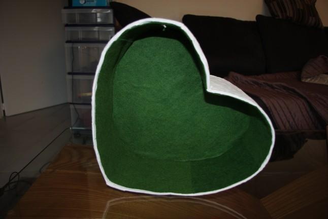 Urne coeur DIY