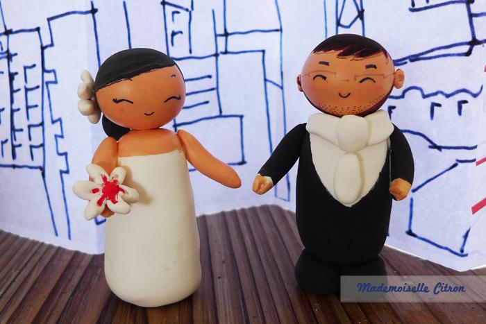 Gagne tes figurines de mariage personnalisées fabriquées par Mlle Citron : le résultat du concours