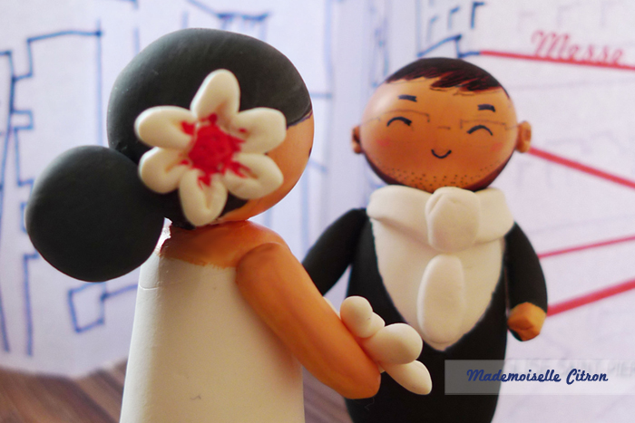Gagne tes figurines de mariage personnalisées fabriquées par Mlle Citron !!
