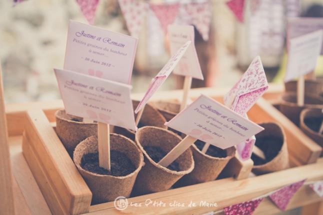 mariage bohème champêtre graines à semer