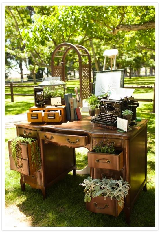 livre d'or machine à écrire mariage