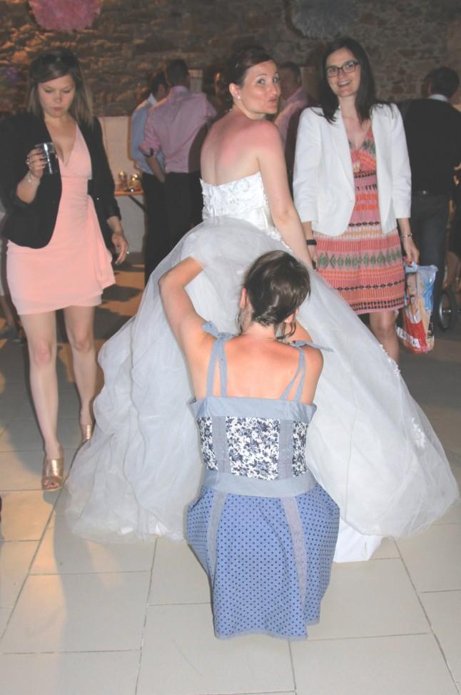 problème traine robe de mariée