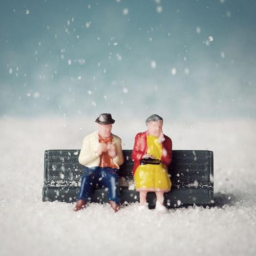 figurine couple neige