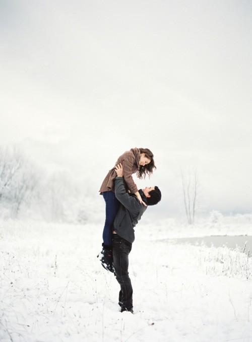 couple neige