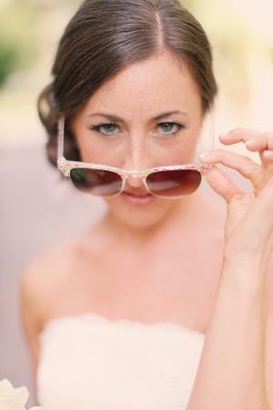 mariée lunettes de soleil
