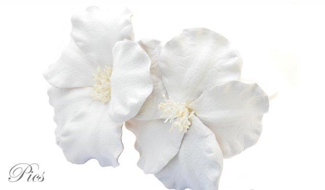 fleurs en cuir