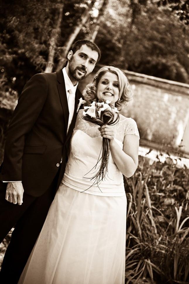 mariage rouge blanc maries