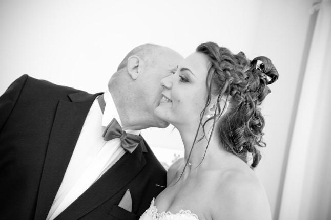la mariée et son papa