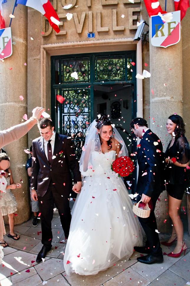 sortie mariage mairie