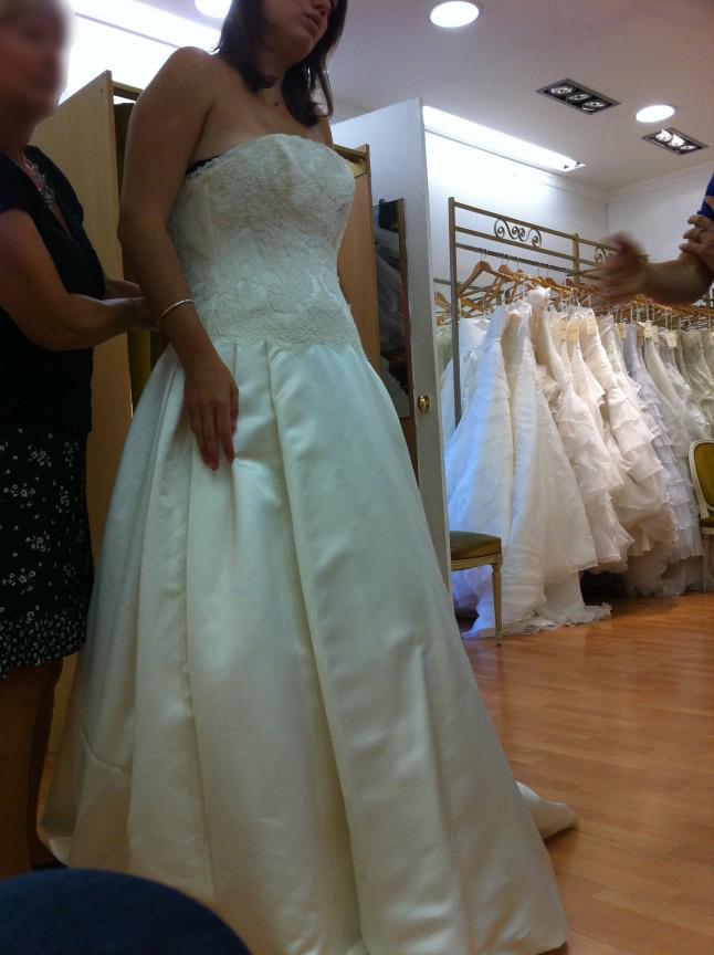 Mes essayages de robes… avec de gentilles vendeuses !