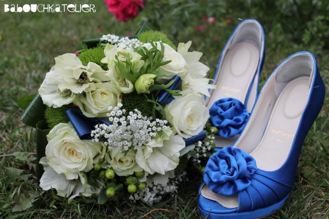 chaussures et bouquet