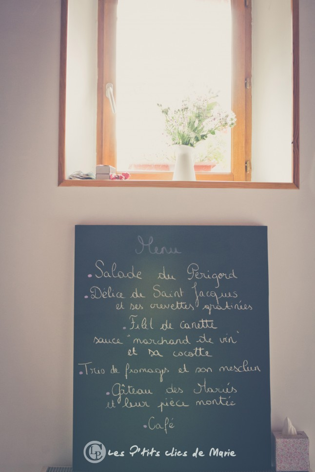 mariage champetre boheme shabby chic menu