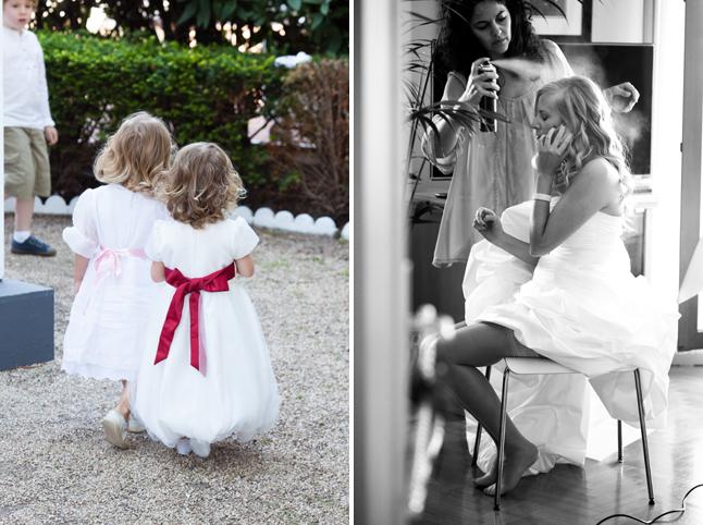 mariage rouge blanc cortege