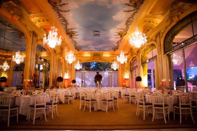 mariage rouge blanc deco salle