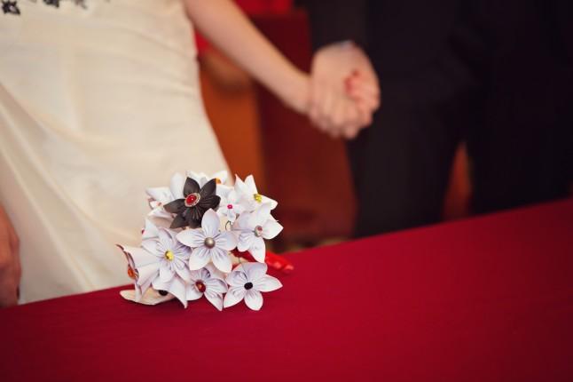 bouquet en origami