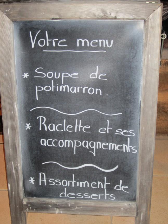 menu d'hiver
