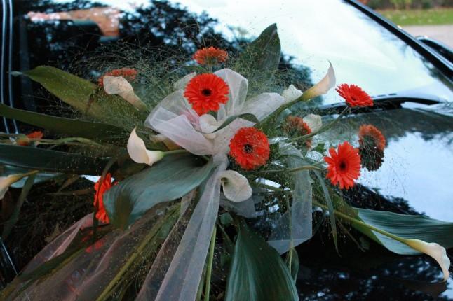 déco florale voiture