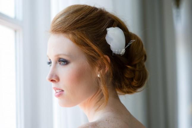 mariée cheveux courts accessoire de cheveux