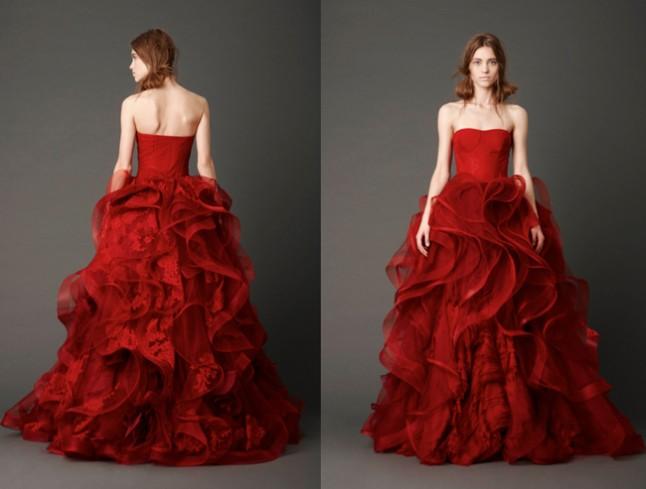 Vera Wang robe Katarina rouge