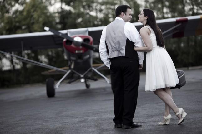 mariés avion