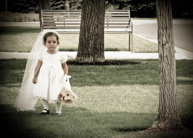 petite fille robe de mariée