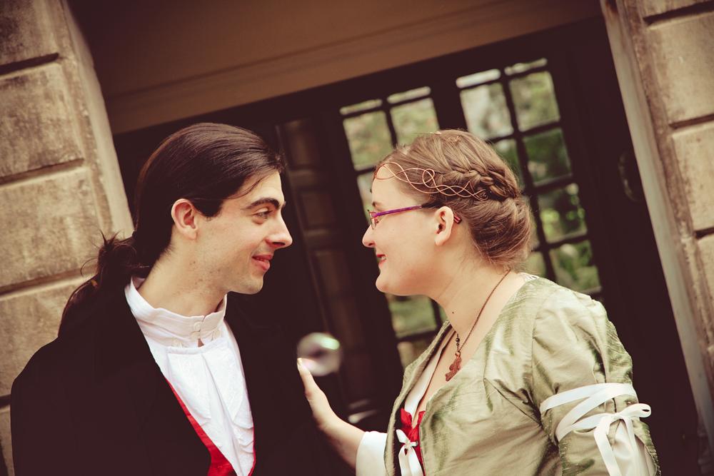 regard amoureux mariage médiéval