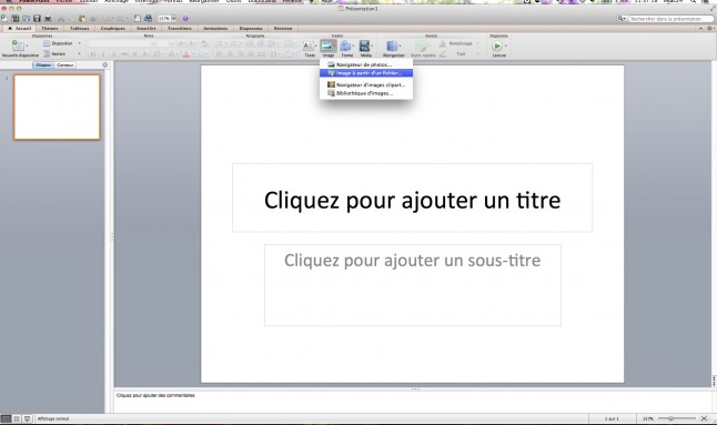 tutoriel plan Power Point