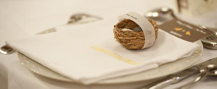 Mariage à l'Abbaye de Collonges sur le thème des oiseaux
