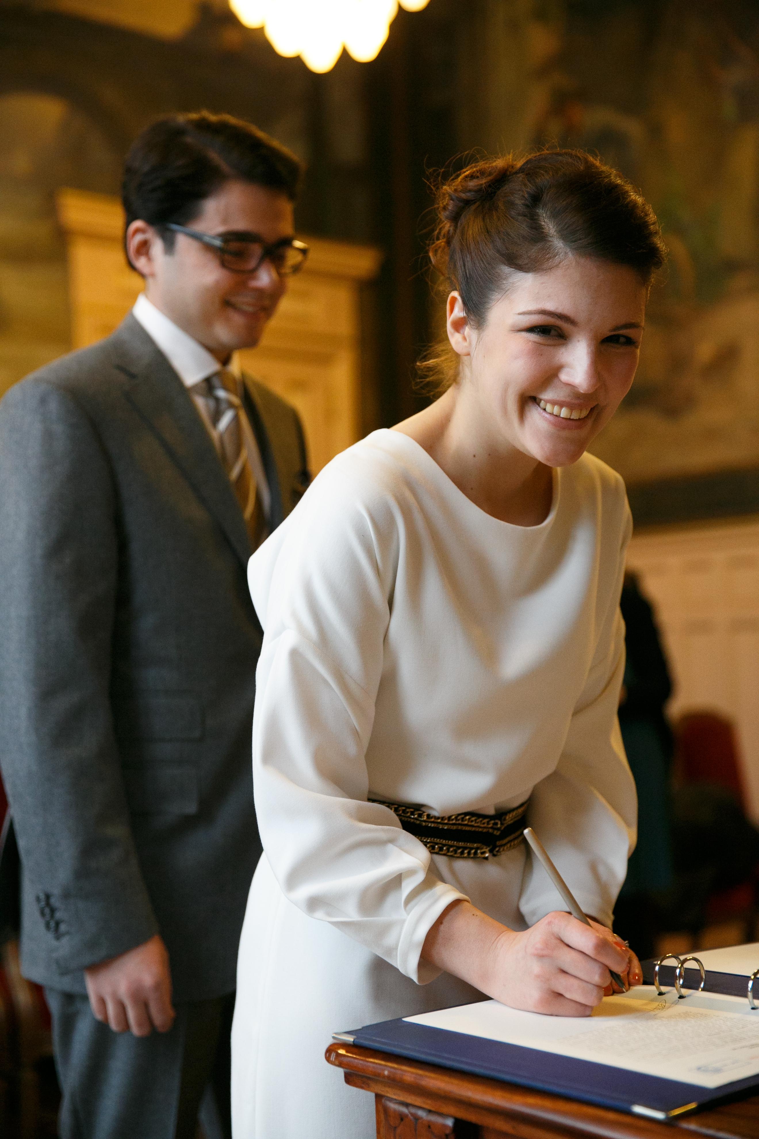 Mon mariage d'hiver à gros budget – la cérémonie civile