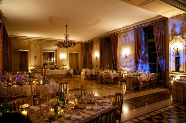salle dîner château d'Ermenonville