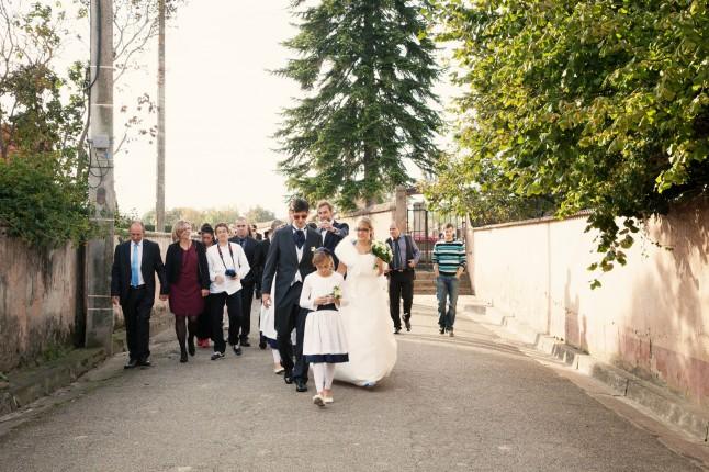 promenade mariés et invités
