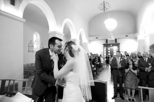 mariage Abbaye de Collonges thème oiseau mariés église