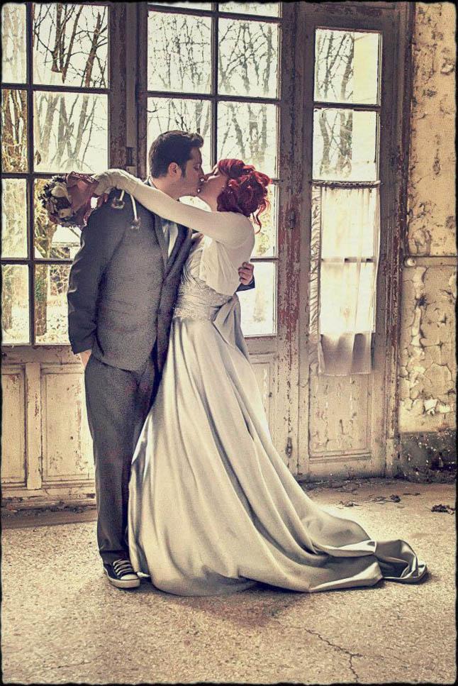 mariage neige chateau mariée rousse