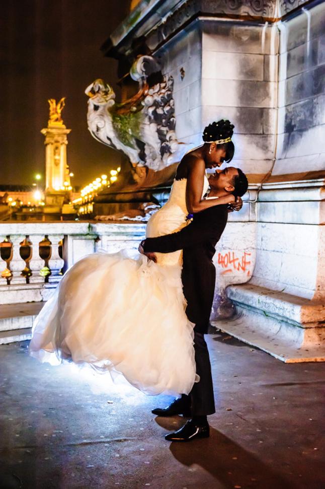 mariage paris péniche photos couple nuit