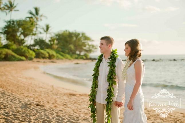 mariage plage leis