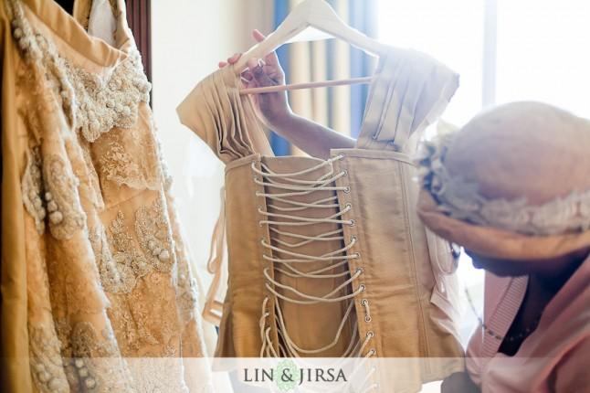 détailler la robe de mariée