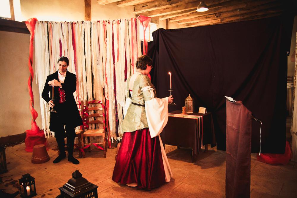 Mon mariage médiéval : la cérémonie laïque (lectures et promesses)