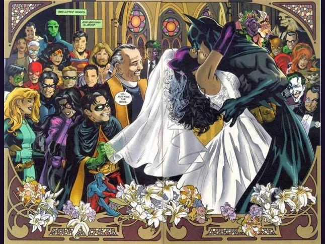 mariage Catwoman et Batman