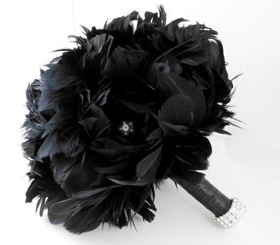 Bouquet de plumes noires