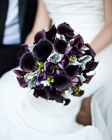 Bouquet noir pourpre