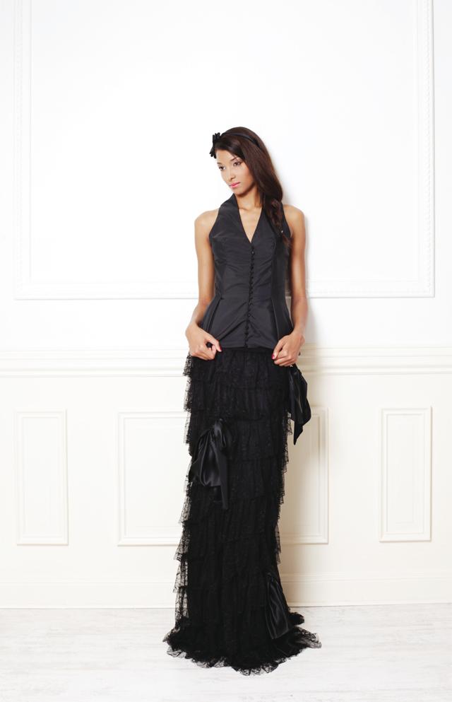 robe de marie noire masculin-féminin Gwanni Mariage