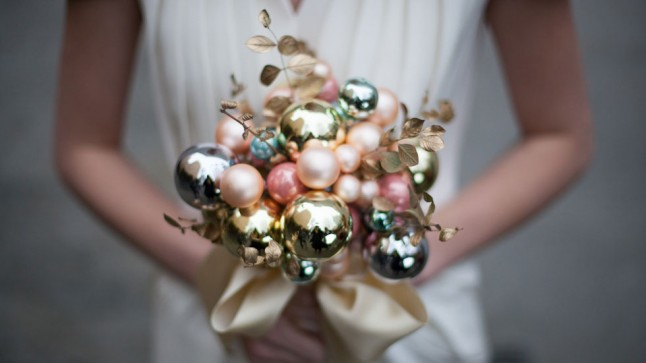 bouquet en boules de Noël
