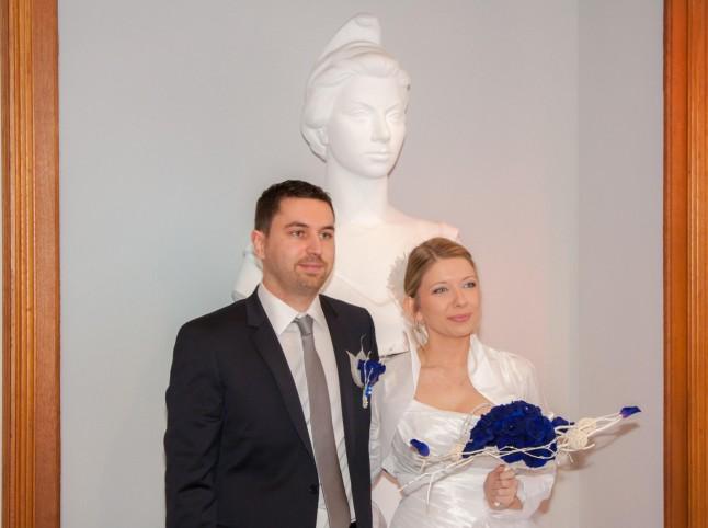 photo de couple Marianne à la mairie