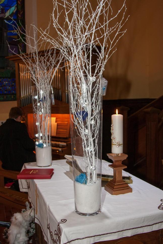 déco d'église hivernale