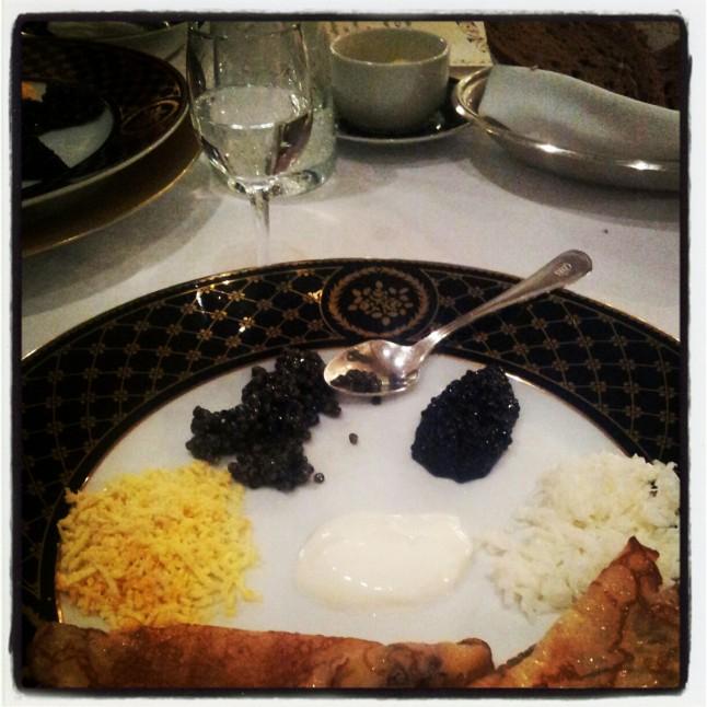 dégustation de caviar