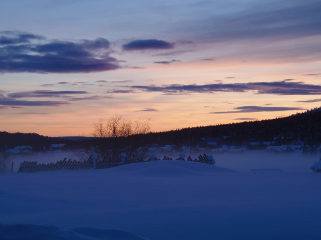 voyage de noces en Laponie finlandaise - coucher de soleil