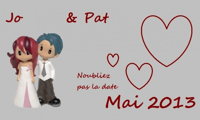 save the date Mlle Jo