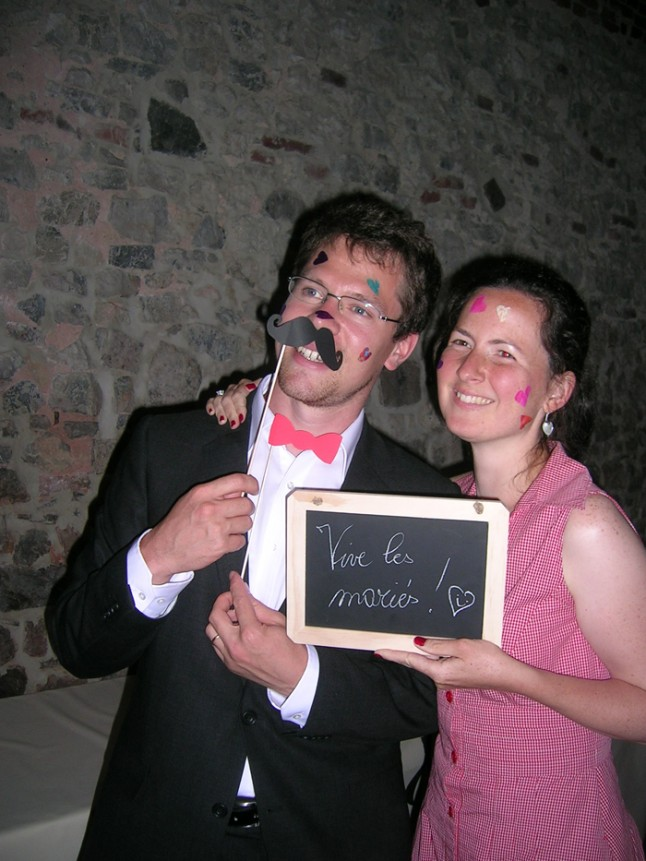 mariage couleur rose photobooth